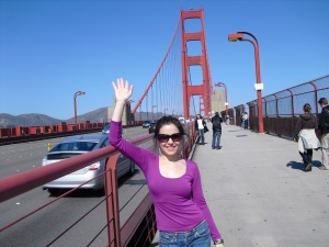 Bria plays shameless tourist.