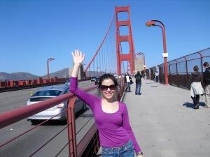 Bria plays shameless tourist.