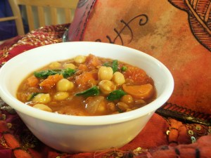 We had some of this Middle Eastern influenced lentil stew for dinner Sat night.