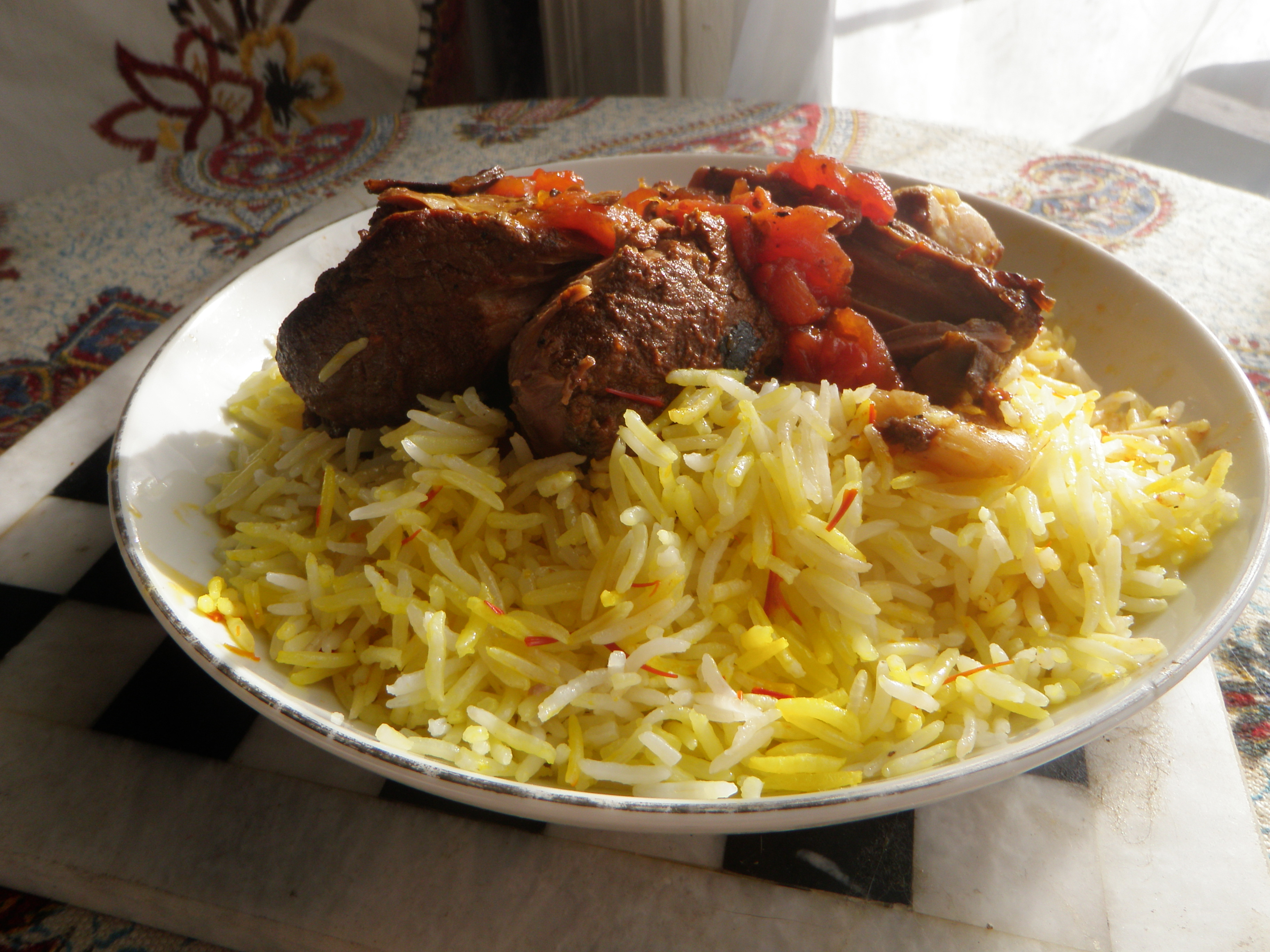 Persian saffron lamb slowcooker style west of persia its a flexible recipe forumfinder Image collections